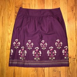 Talbots Embroidered Skirt